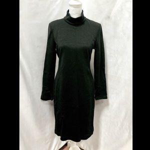 St. John Black Long Sleeve Mock Neck Dress Size 10